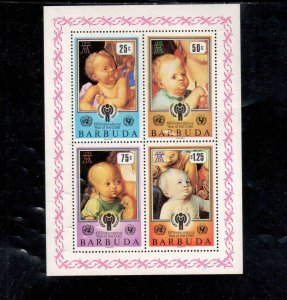 BARBUDA #412a  1976 INTERNATIONAL YEARD OF THE CHILD     MINT VF NH  O.G S/S  a