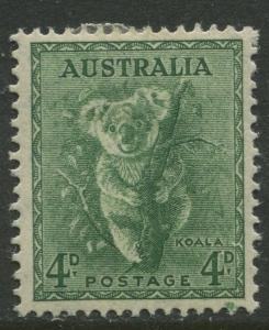 Australia - Scott 171 -  Kangaroo -1942- MLH - Perf.15 x14 - Single 4d stamp