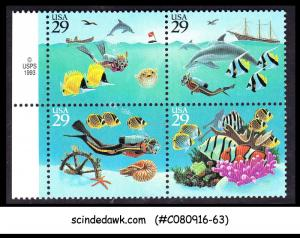USA - 1994 WONDERS OF THE SEA / FISH/DOLPHINE/CORALS - SE-TENANT 29cX4 MNH