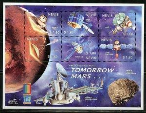 NEVIS TOMORROW MARS SHEET MINT NH