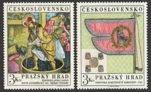Czechoslovakia 1626-1627,MNH. The Art Treasures of the Castle of Prague,1969.