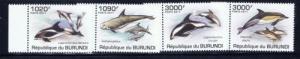Burundi 852-55 NH 2011 Dolphins set