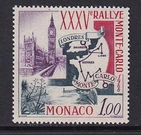 Monaco  #629   MNH  1966  rally of Monte Carlo