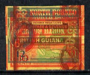 North Borneo - British Guiana 1961 spectacular piece of p...