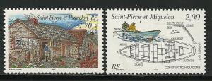 Saint Pierre and Miquelon #636-7, Mint Never Hinge