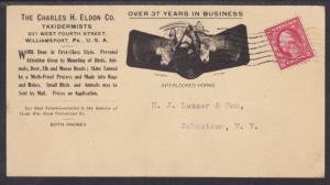 US Sc 463 on 1917 Taxidermist Advertising Card to NY, Interlocked Deer Heads