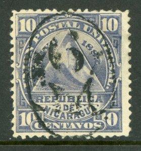 Nicaragua 1882 ABNC 10¢ w/ Full Managua Cancel VFU L788