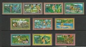 Niue 1979 Air Defs UM/MNH SG 264/73