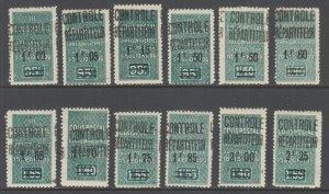 Algeria Y&T 27-37 MLH. 1929-1932 Parcel Post, cplt set, VF