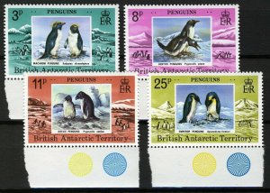 British Antarctic Territory 1979, Penguins margin set VF MNH, Mi 74-77 cat 30€