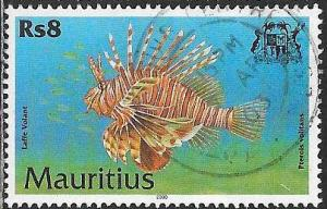 Mauritius 918 Used - Environmental Protection - Red Lionfish