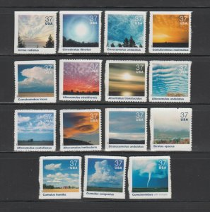 US,3878 A-O,CLOUDSCAPES,2004,FULL SET, COLLECTION,MINT NH VF