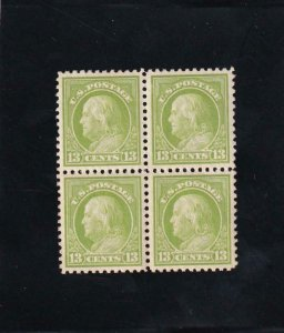 13c Green Franklin, Sc #513, Block/4, MNH (42218)