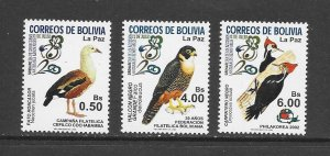 BIRDS - BOLIVIA #1185-7  MNH