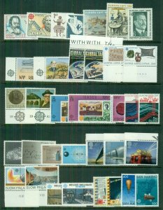 EUROPA Worldwide 1983 sets, 35 diff countries, Complete, og, NH, Scott $179.00