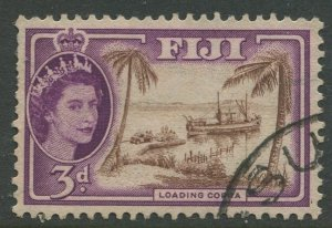 STAMP STATION PERTH Fiji #152 QEII Definitive Issue Used 1954 CV$0.30