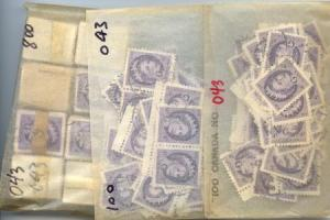 Canada -1955 4c Violet QE Wilding Ovpt. G X 1000 used