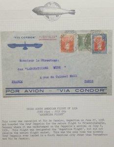 O) 1934 ARGENTINA, ZEPPELIN - SOUTH AMERICA FLIGHT - ARGENTINA FLIGHT, AIRSHIP