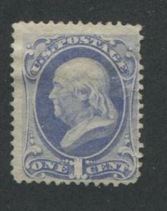 1870 US Stamp #145 Pale 1c Mint Fine No Gum Perf 12. Catalogue Value $240