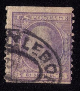 US Stamp Sc 464 Washington 3c Error Blurred Face Image Fine