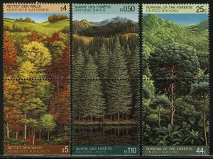 UN 1988, Forest, Save the forest pairs VF MNH, Mi cat 20€