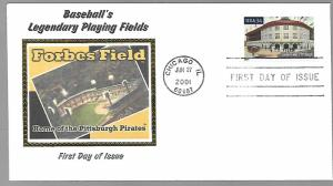 US  3515   FDC FORBES FIELD , PITTSBURG, COLORANO SILK