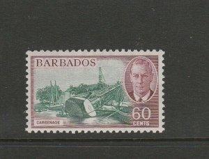 Barbados 1950 defs 60c MM SG 280