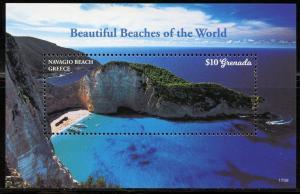 GRENADA 2017 NAVAGIO BEACH GREECE SOUVENIR SHEET  MINT NH