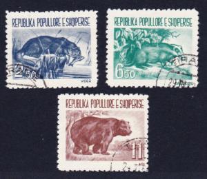 Albania Badger Bear Otter Fauna 3v Cancelled SG#673-675 MI#627-629 CV£10+
