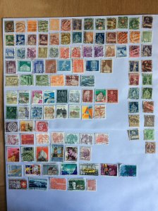Switzerland 100+ stamps - Lot B