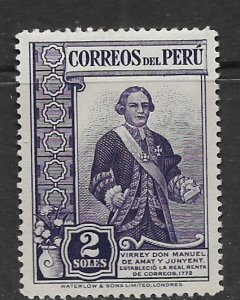 PERU 371 HINGED VICEROY MANUEL DE AMAT Y JUNYENT