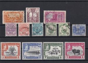 Burma Used Bahawalpur Mint Never Hinged Stamps Ref 26127