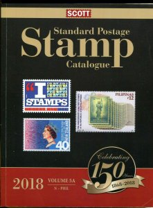 2018 SCOTT STANDARD POSTAGE STAMP CATALOGUE VOL 5A N-Phil( 1 book)