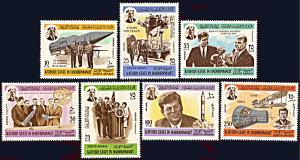 Kathiri State Michel 166A-172A, MNH, John F. Kennedy and Space Program