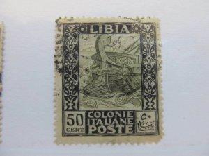 A8P56F153 Italia Italien Italie Italy 1926-29 Libia Unwmk 50c fine used stamp