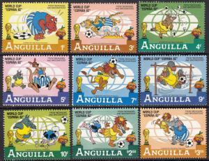 Anguilla #492-501 World Cup - Disney Characters Playing Football ~ (6731)