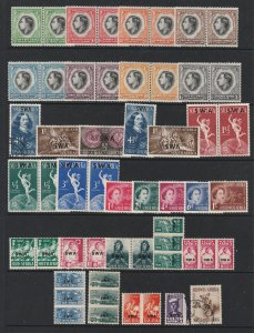 South West Africa a page of mainly mint
