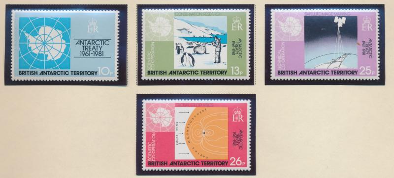 British Antarctic Territory (B.A.T.) Stamps Scott #82 To 85, Mint Never Hinge...