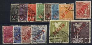 Berlin #21 -34 Used F-VF  high values expertized -