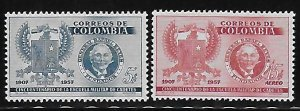 Colombia 1957 Arms Sc 673, C299 MNH A2032