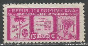 DOMINICAN REPUBLIC 395 VFU Z1382-5