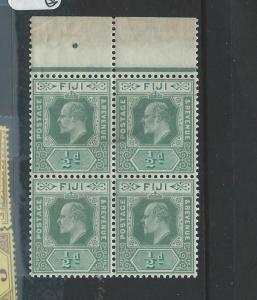 FIJI ISLANDS (P0706B)  KE 1D   SG115 BL OF 4   MNH