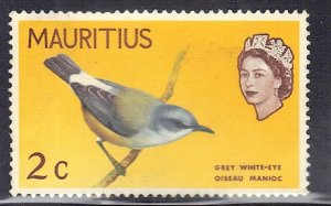 MAURITIUS  SC# 276 **USED** 1965  2c  BIRD SEE SCAN