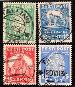 Estonia Scott 134-137 Used.