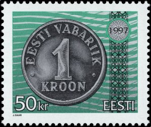 Estonia 1997 #327 MNH. Coin