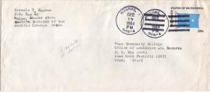 Caroline Islands Micronesia 20c Four-Star Envelope 1984 Kosrae, TT 96944 to G...