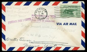 U.S. Scott 1178 w/AIR MAIL POSTAGE MUST BE PAID ON THIS TYPE OF ENVELOPE Marking