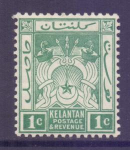 Malaya Kelantan Scott 1 - SG1a, 1911 Crown CA 1c MH*