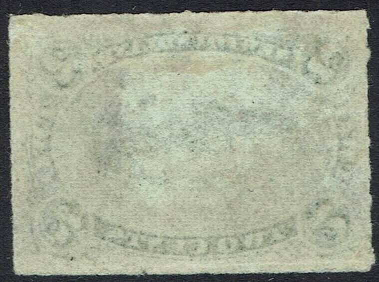 NEWFOUNDLAND 1876 COD FISH 2C ROULETTED