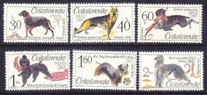 Czechoslovakia 1312-17 MNH 1965 Various Dogs Full Set of 6 Very Fine